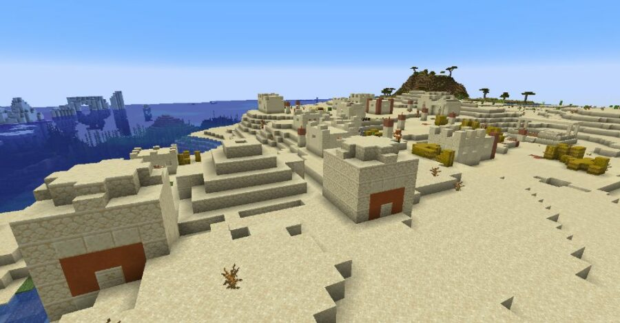 A Buried Desert Temple in Minecraft.