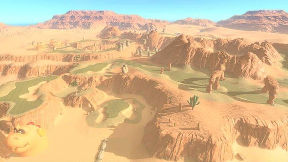 Balmy Dunes course in Mario Golf Super Rush.