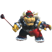 Bowser in Mario Golf Super Rush.