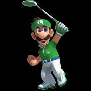 Luigi in Mario Golf Super Rush.