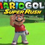 Mario on a course in Mario Golf Super Rush.