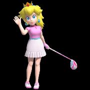 Peach in Mario Golf Super Rush.