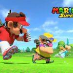 Characters running in Mario Golf Super Rush.