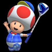 Toad in Mario Golf Super Rush.
