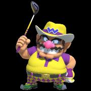 Wario in Mario Golf Super Rush.