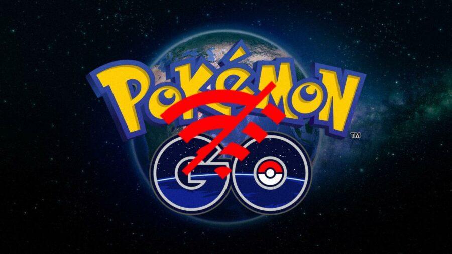Pokémon Go title with a Disconnect Symbol.