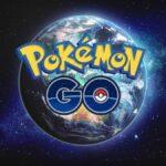 Lunatone above the earth in Pokemon Go.
