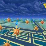 Pokémon Go Solrock in the wild.