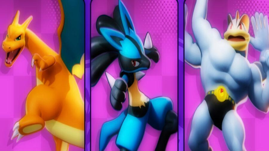 Screenshot of Pokémon Unite Classes