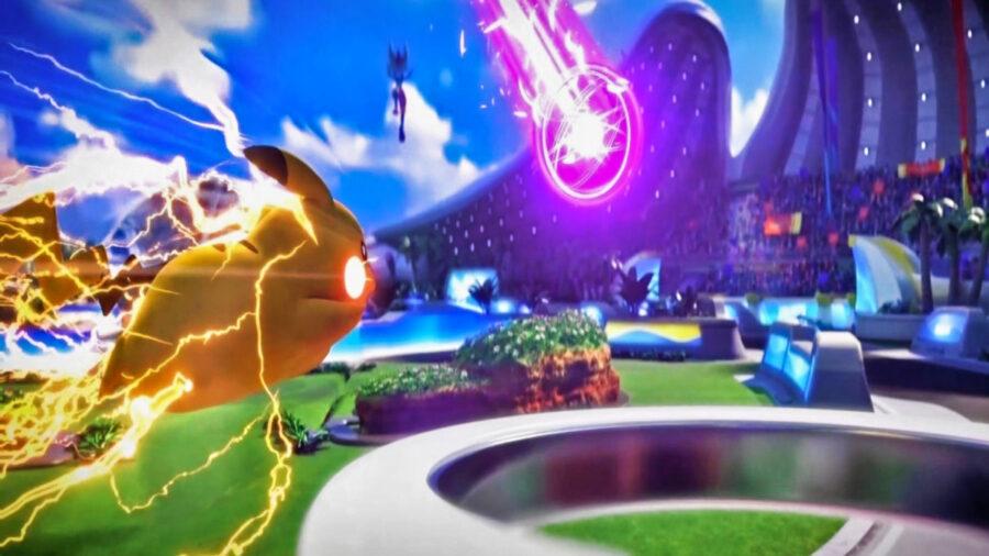 Screenshot of Pokémon Unite trailer