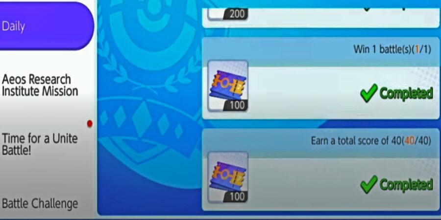 Screenshot of Pokemon Unite beta gameplay