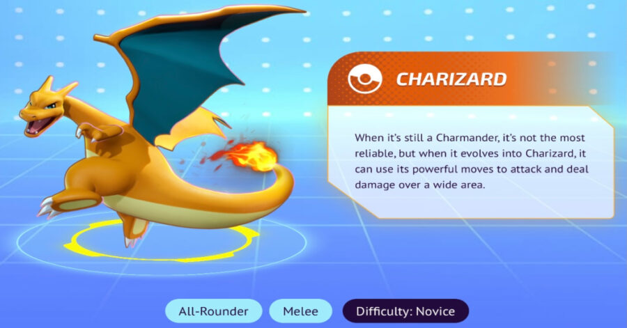 Screenshot of Pokémon Unite characters