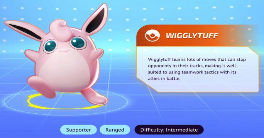 Screenshot of Pokemon Unite characters