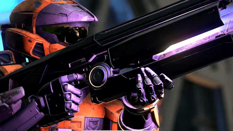 Screenshot of Halo Infinite gameplay trailer