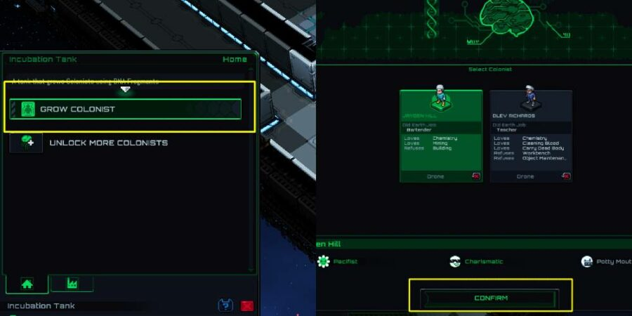 How to Grow a colonist in STarmancer