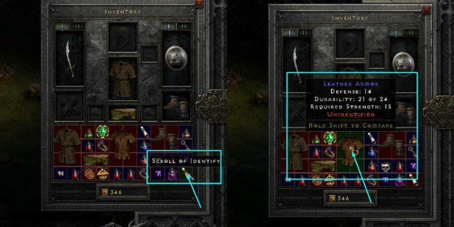 Identifying an item in Diablo 2