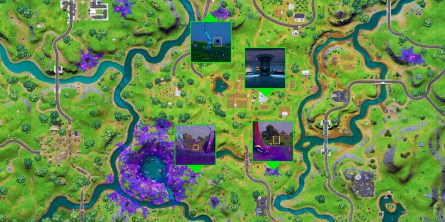 Alien Device locations in Fortnite