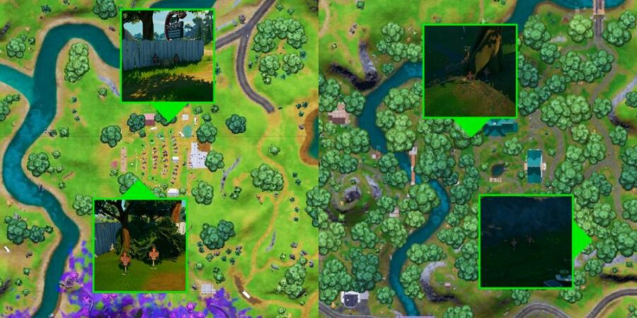 Target Dummy locations in Fortnite C2S7W12