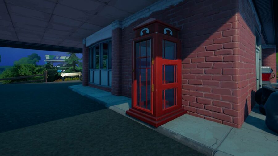 A phone booth in Fortnite.
