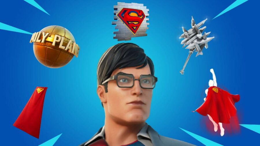 The Superman Cosmetics in Fortnite.