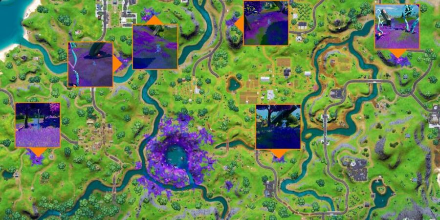 Biome scanner locations in Fortnite C2S7W12