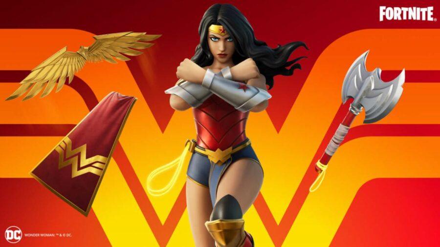 Fortnite Wonder Woman Cosmetics