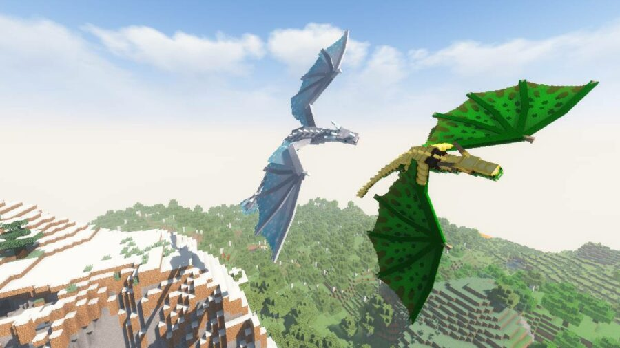Flying Dragons in Minecraft