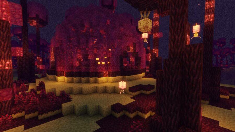 The Valhelia mod in Minecraft