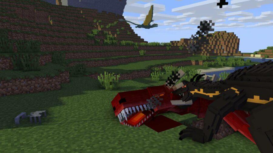 World of Dragons mod in Minecraft