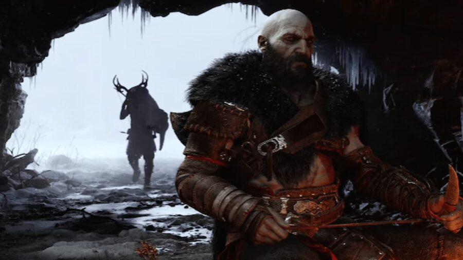 Screenshot of God of War gameplay trailer