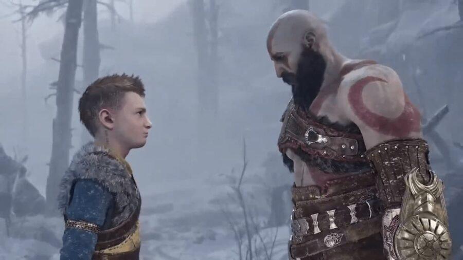 Screenshot of God of War Ragnarok Gameplay trailer