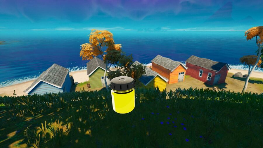 A bottle of Banana Yellow in Fortnite
