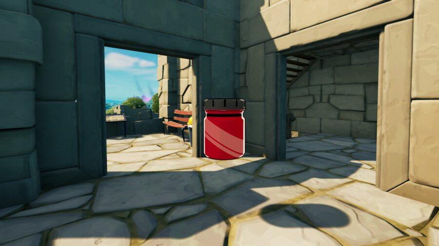 A Knightly Crimson Bottle in Fortnite