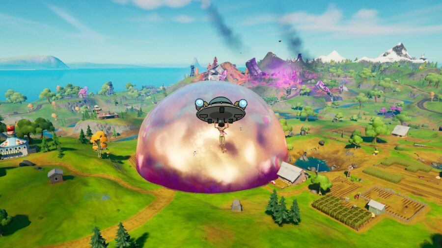 Floating into The Sideways in Fortnite
