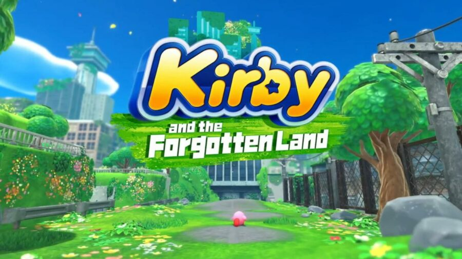 The promo image for Kirby and the Forgotten Land