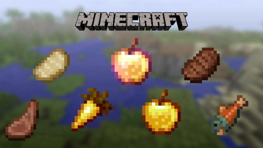 Minecraft Title with Foods