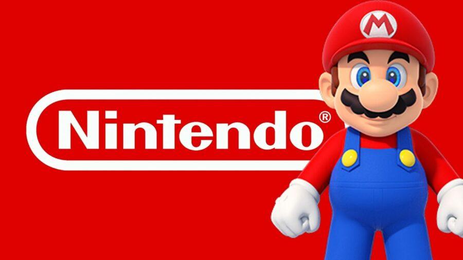 Mario on a Nintendo Logo