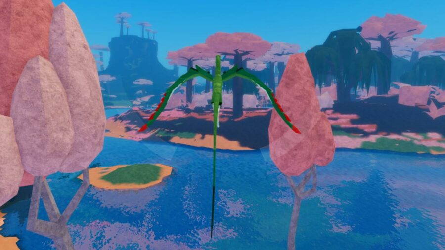 A creature flying in Roblox Creatures of Sonaria