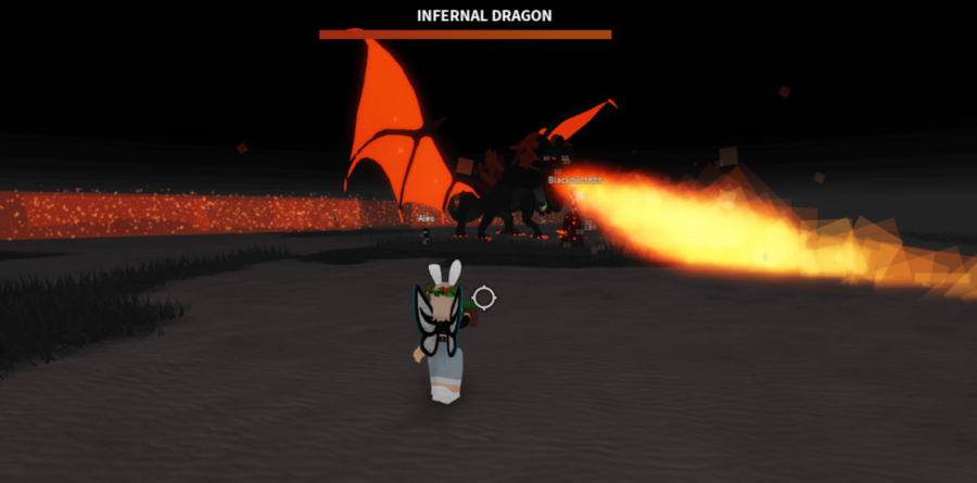 The Infernal Dragon can take a bit of beating, so bring all you've got!