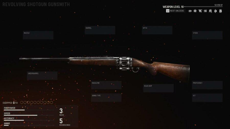 all shotguns in cod vanguard