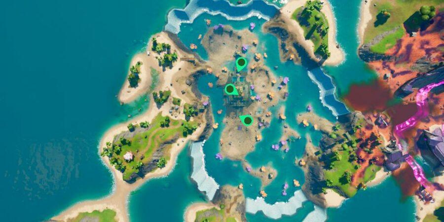 Frozen Blue bottle locations in Coral Castle