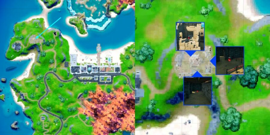 Fort Crumpet and Knightly Crimson Bottle locations