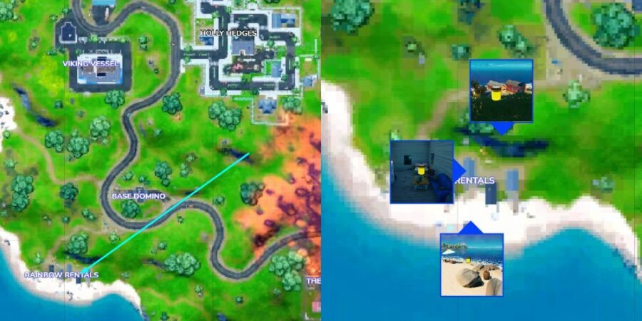 Banana Yellow ink bottle locations in Fortnite