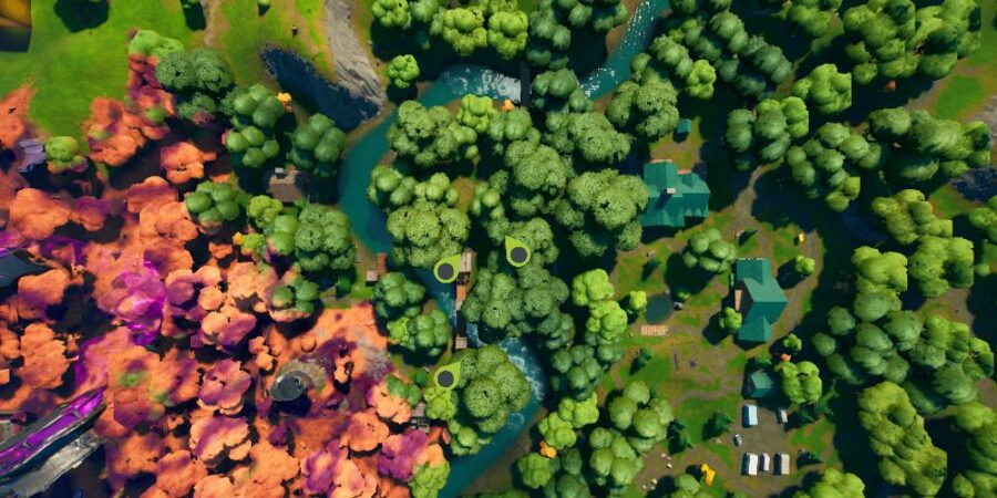 The Recruit Green bottle locations in Weeping Woods