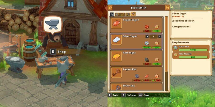 Buying Ingots in Kitaria Fables