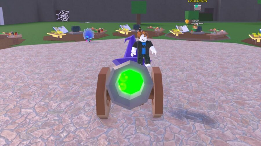 The wizard cannon in Roblox Wacky Wizards